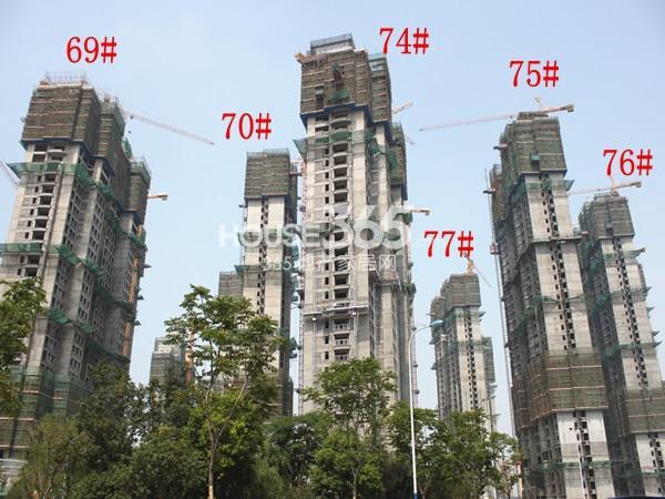 大名城69#、70#、74#、77#、75#、76#工地进度实景图(2014.6)