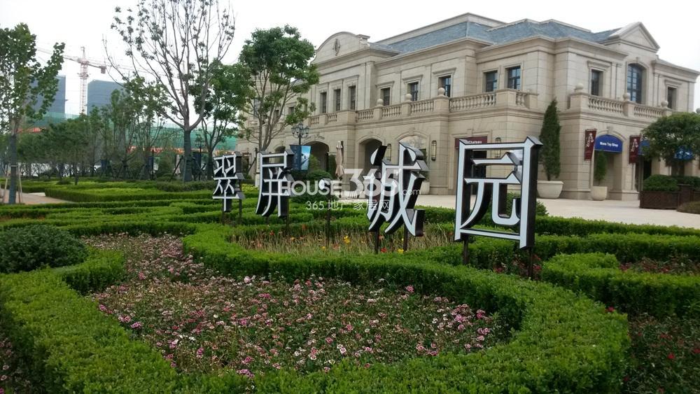 翠屏诚园施工现场实景图(6.4)
