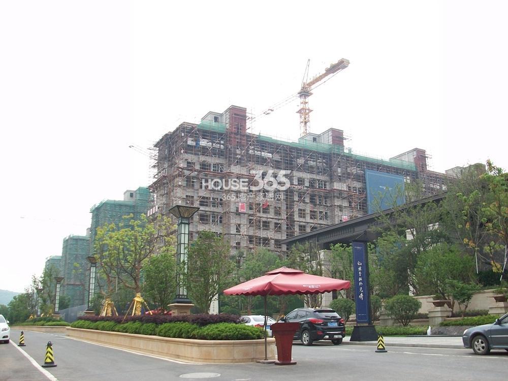 """高科荣境21号楼褪去了""""绿衣""""实景图(6.4)"""