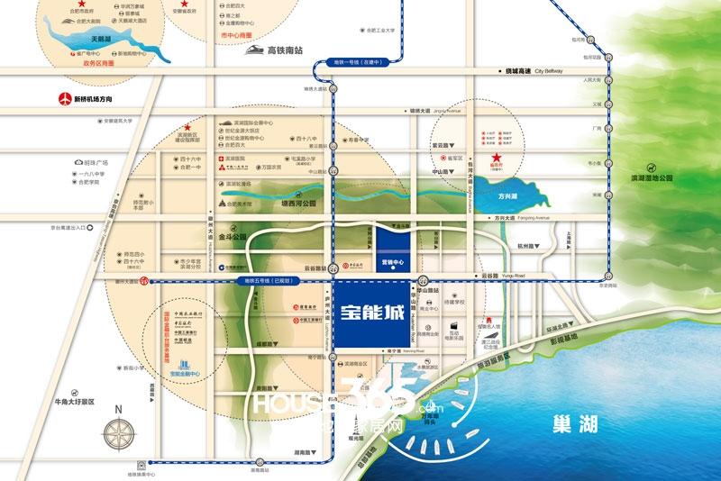 宝能城交通图