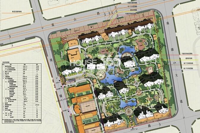 雅居乐中心广场B区总平面