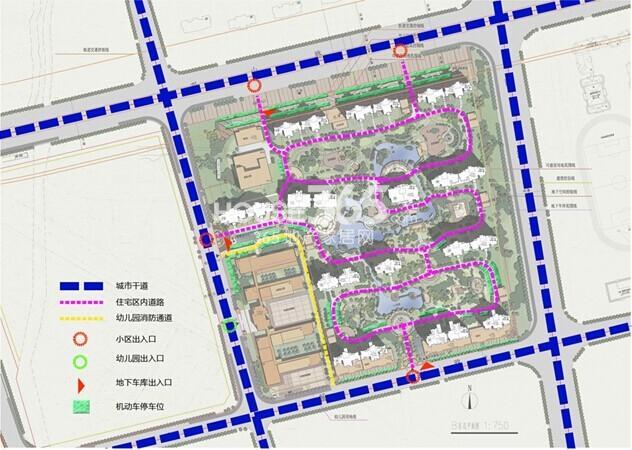 雅居乐中心广场交通流线分析