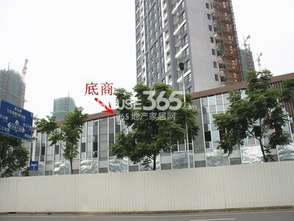 绿洲白马公馆底商工地进度实景图(2014.7)