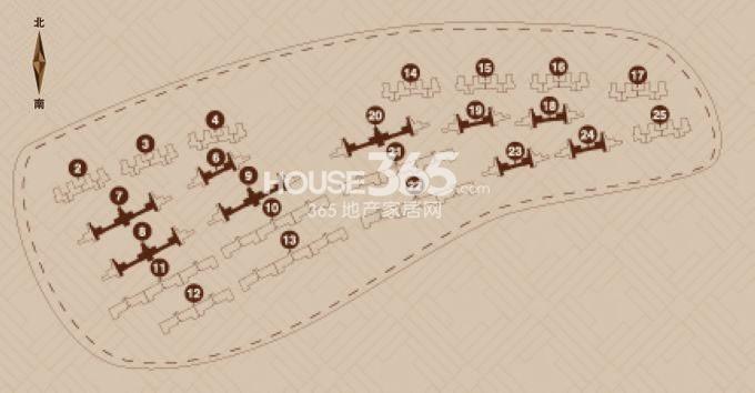 金地艺境户型图 7层洋房F-2户型95平米户型分布