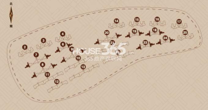 金地艺境户型图 7层洋房F-1户型 96平米户型分布图