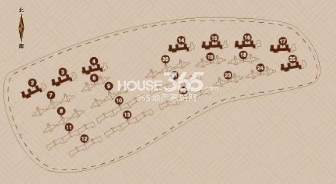 金地艺境户型图 11层洋房A户型 85-92平米户型分布图