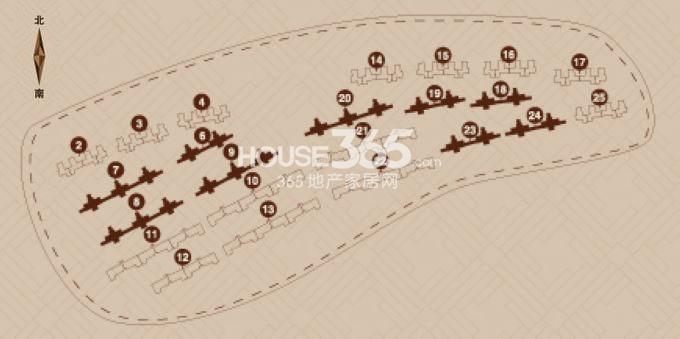 金地艺境户型图 7层洋房G-1户型 两室两厅一卫95平米户型分布