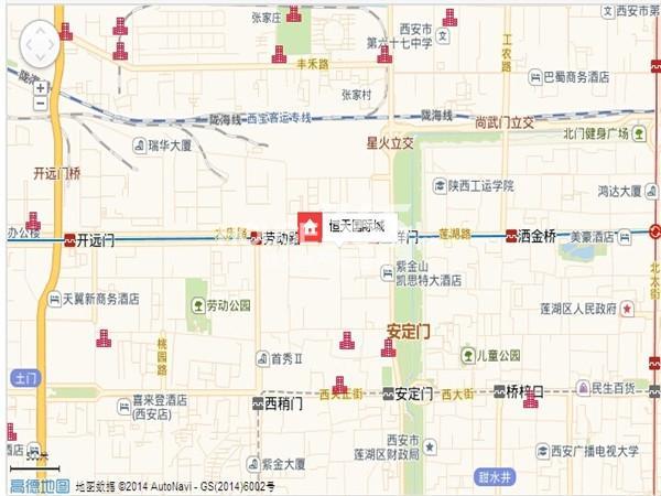 恒天国际城交通图