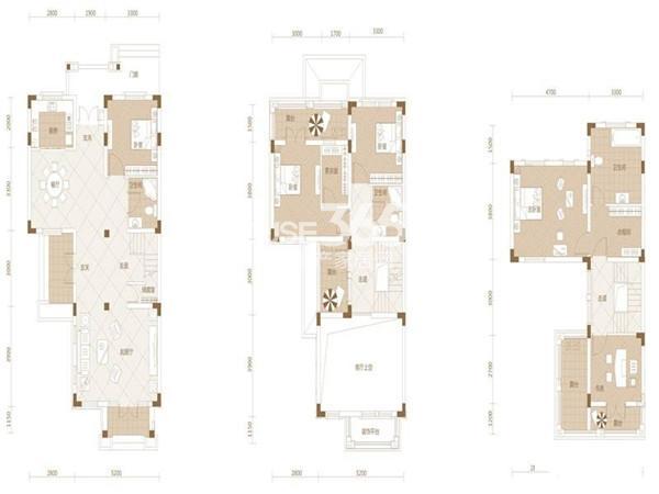 武汉绿地城Cb-15室2厅3卫1厨 205.00㎡