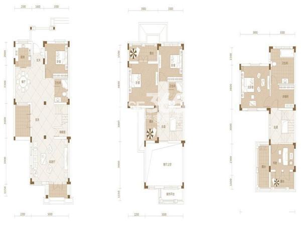 武汉绿地城Cb-25室2厅3卫1厨 185.00㎡