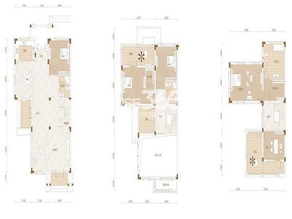 武汉绿地城Cd5室2厅3卫1厨 247.00㎡