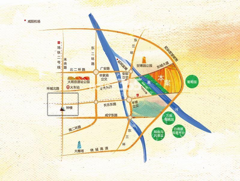 中铁琉森水岸交通图