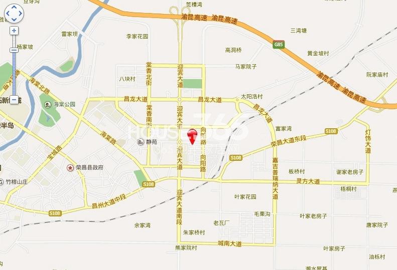 荣昌保安乡地图