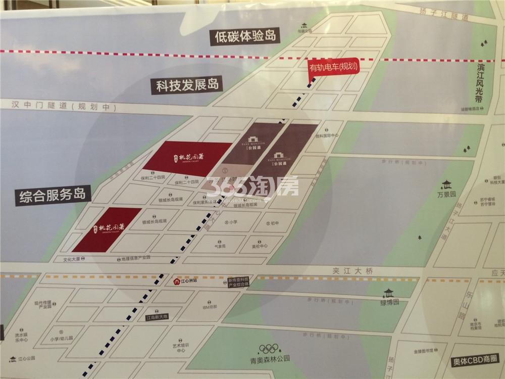 升龙桃花园著交通图