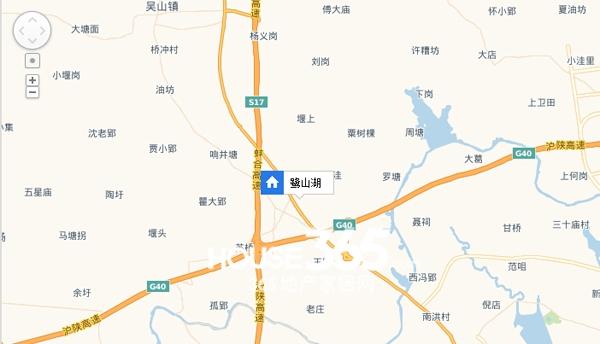 鹭山湖交通图