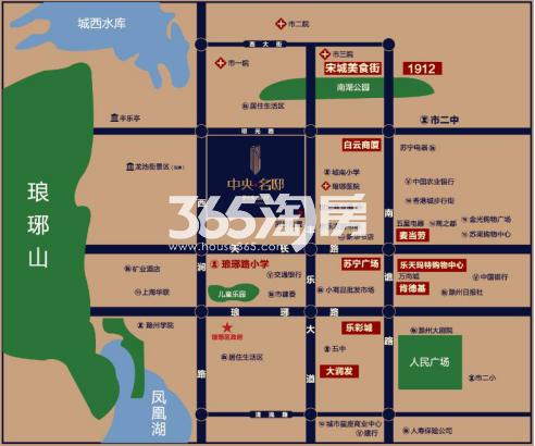 碧桂园皖投·中央名邸交通图