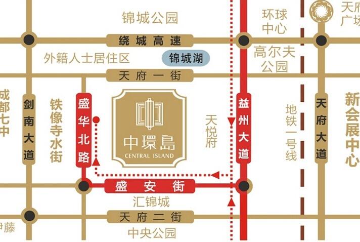 中环岛交通图
