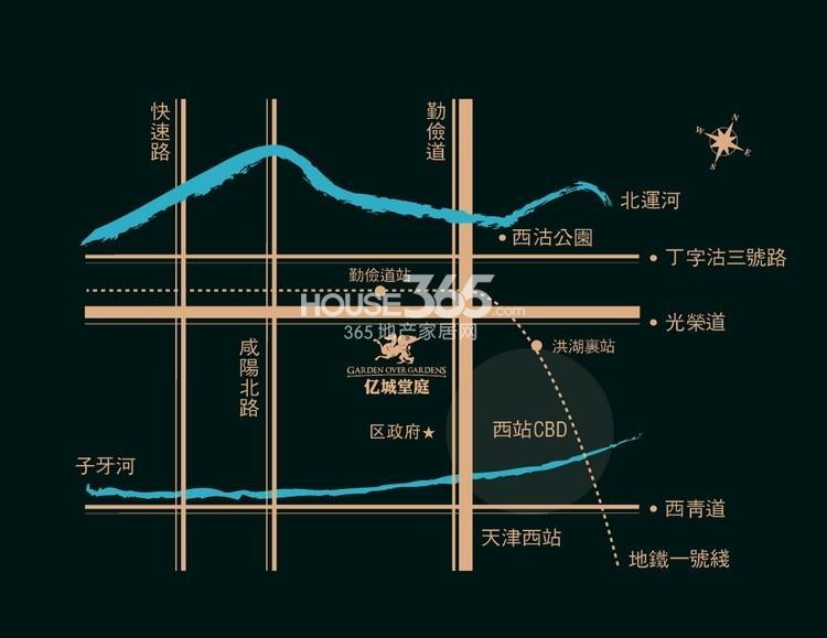 亿城堂庭交通图