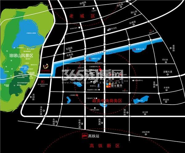君安阳光都市交通图