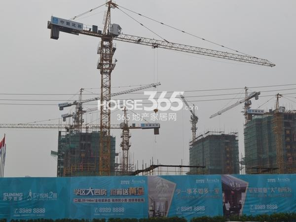 苏宁悦城2期工程进度实景图(2014.8)