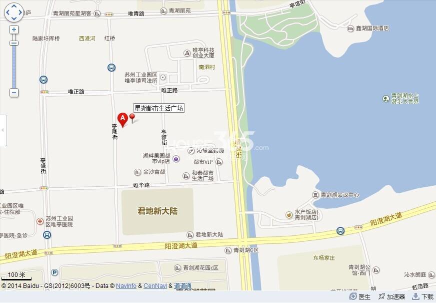 星湖都市生活广场交通图