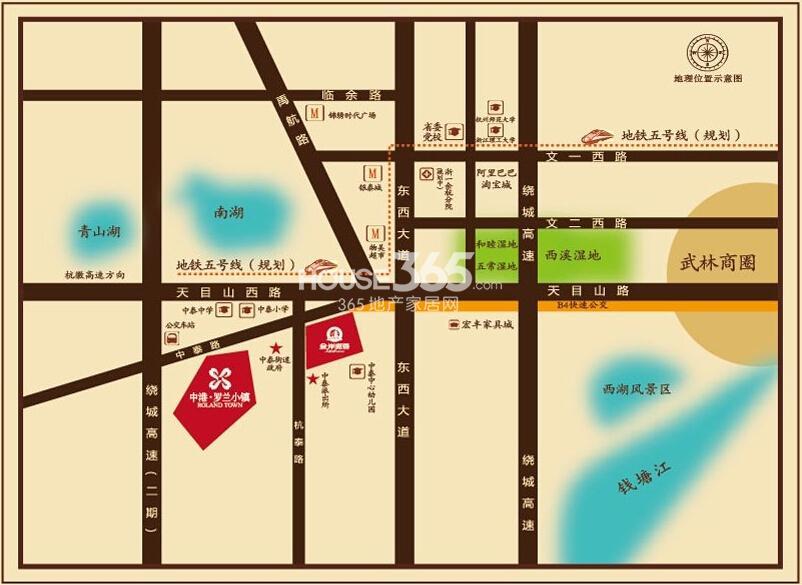 中港罗兰小镇交通图