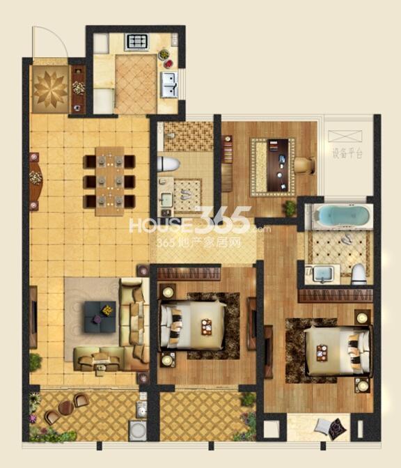 龙湖时代天街二期A7-2户型113平