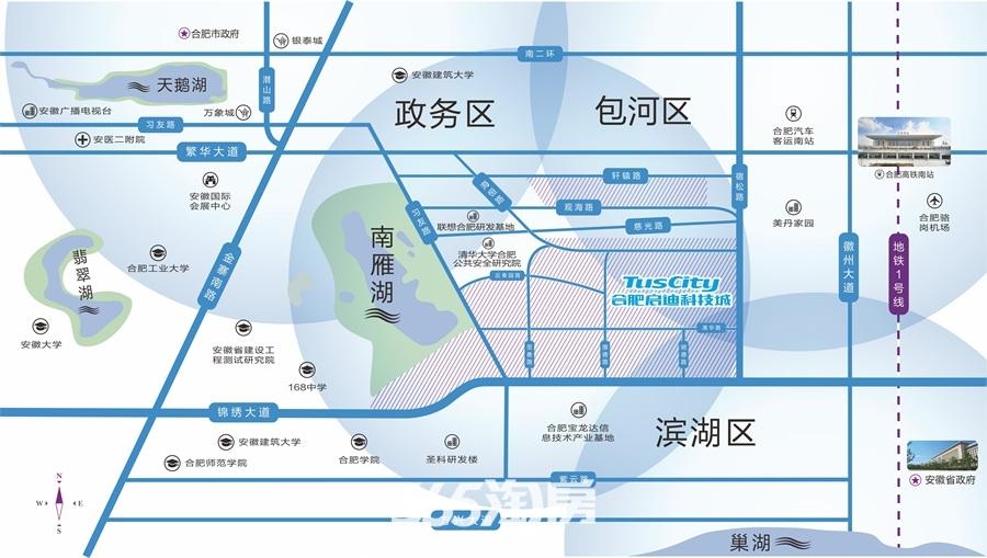 启迪科技城水木园交通图