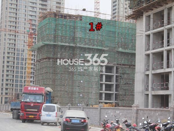 绿城玉兰广场1#工程进度(2014.10)