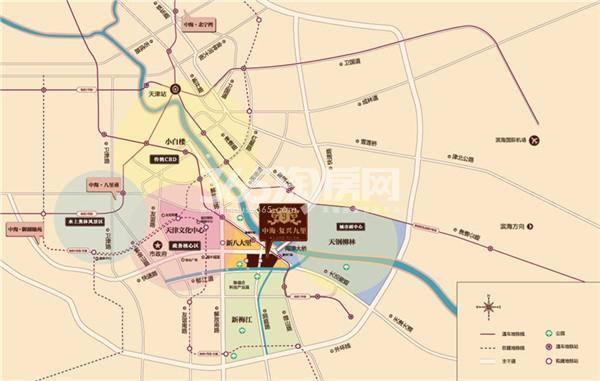 中海复兴九里交通图