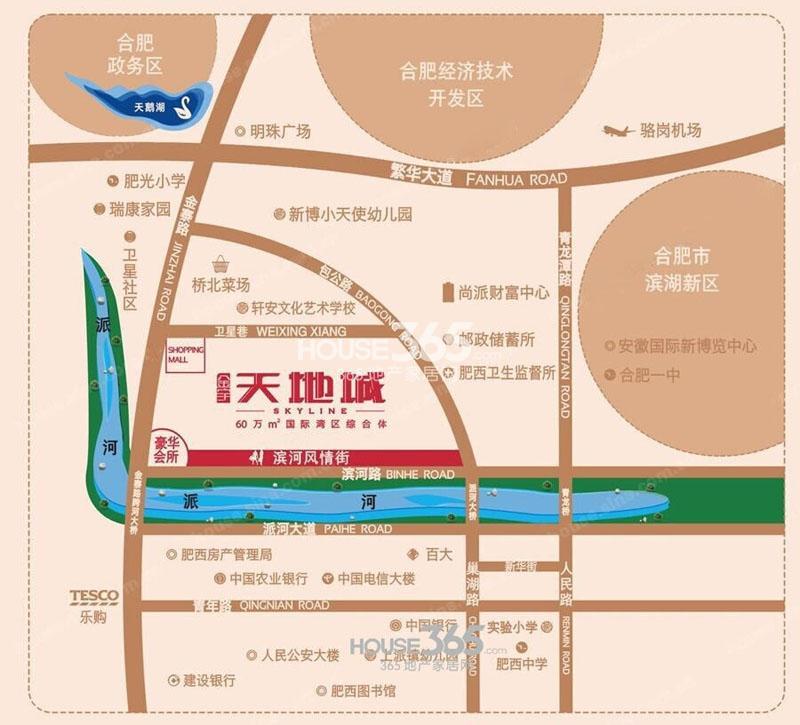 金宇天地城交通图
