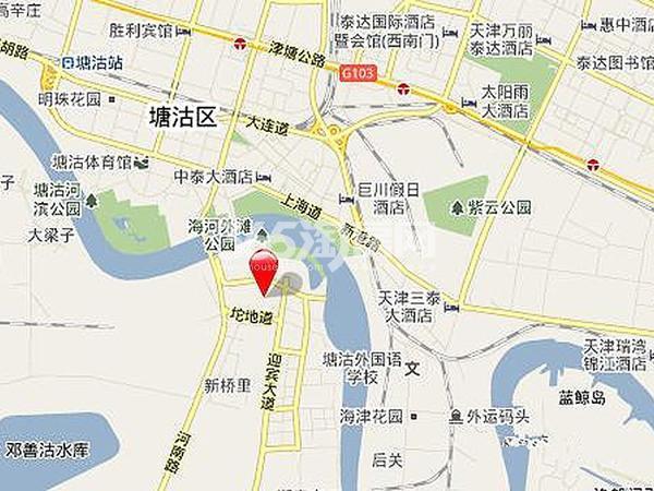 中惠熙元广场交通图