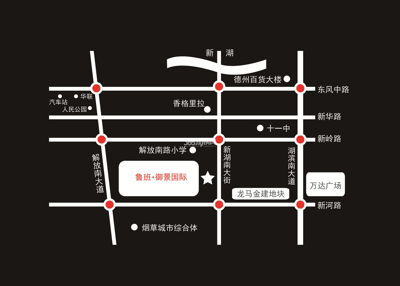 鲁班御景国际交通图