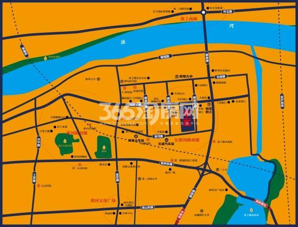 蚌埠国祯广场交通图