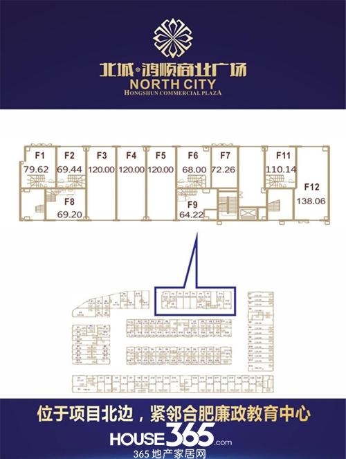 北城鸿顺商业广场F9户型图