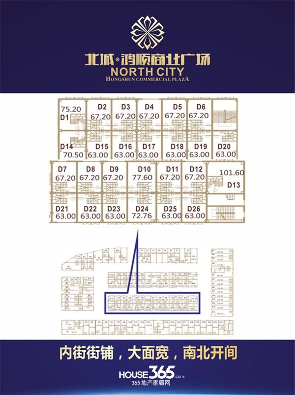 北城鸿顺商业广场D24户型图
