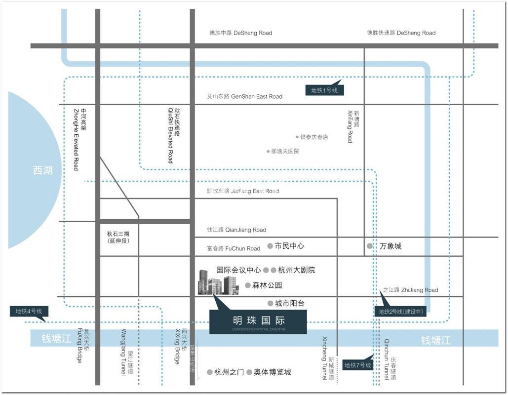 金基明珠国际商务中心交通图