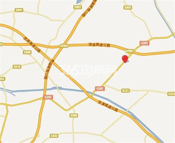 七里香格庄园交通图