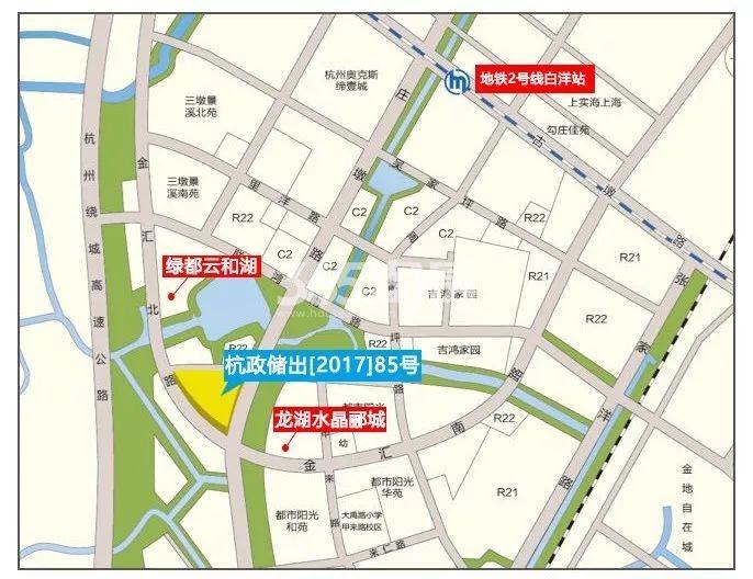 南京银城三墩北项目交通图