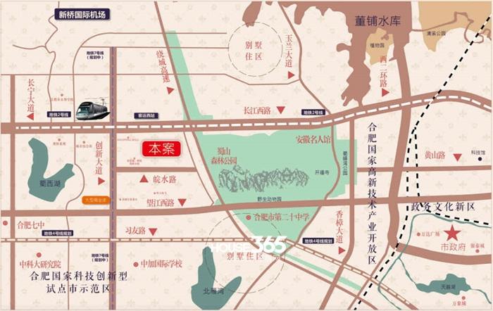海亮九玺【览山】交通图