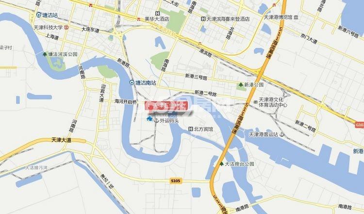 天津汇金中心交通图