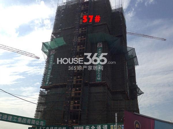 九洲花园缇香郡57#工程进度(2015.1)