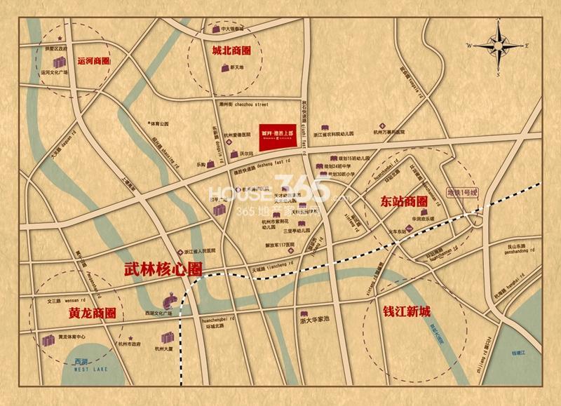首开武林8栋交通图