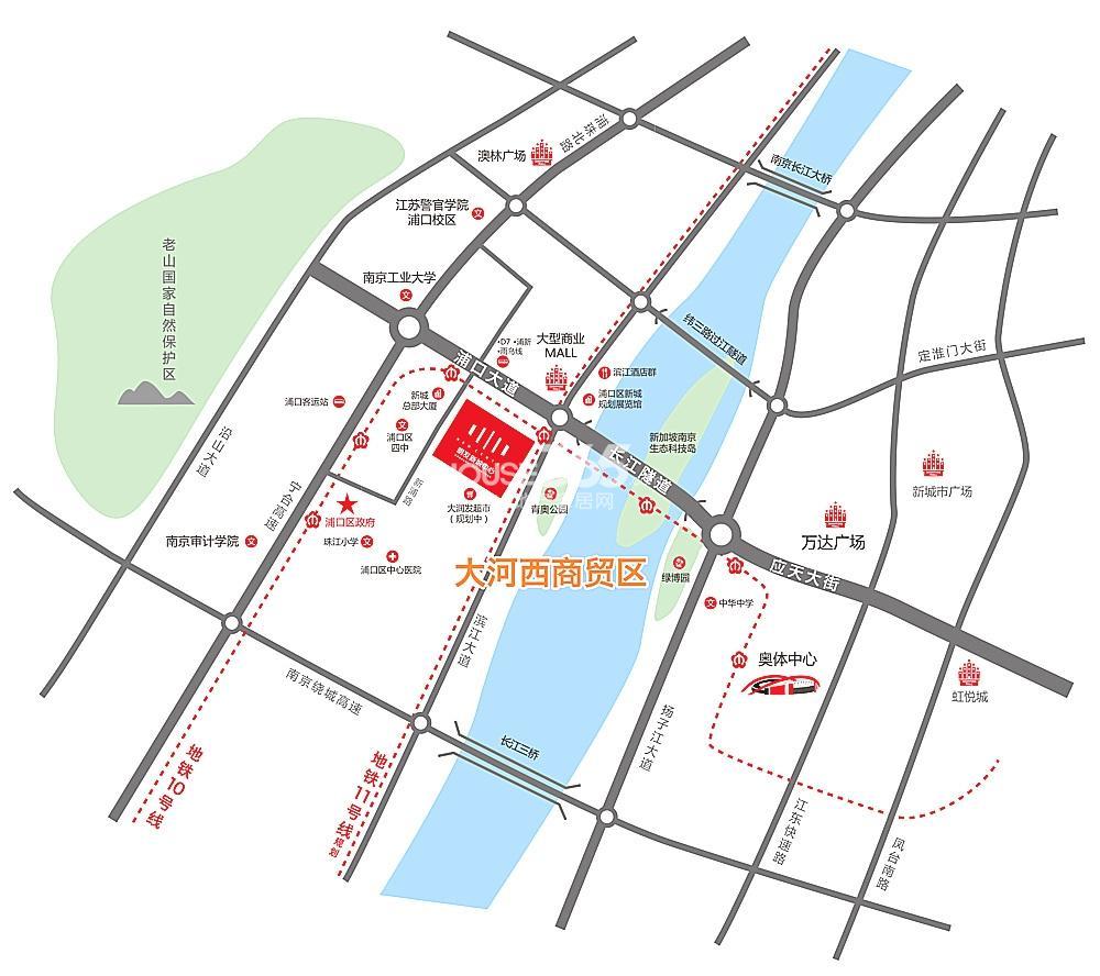 明发新城中心交通图