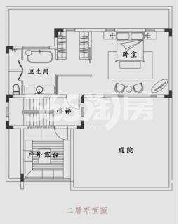 锦和云水江南105.32方户型图(二层)