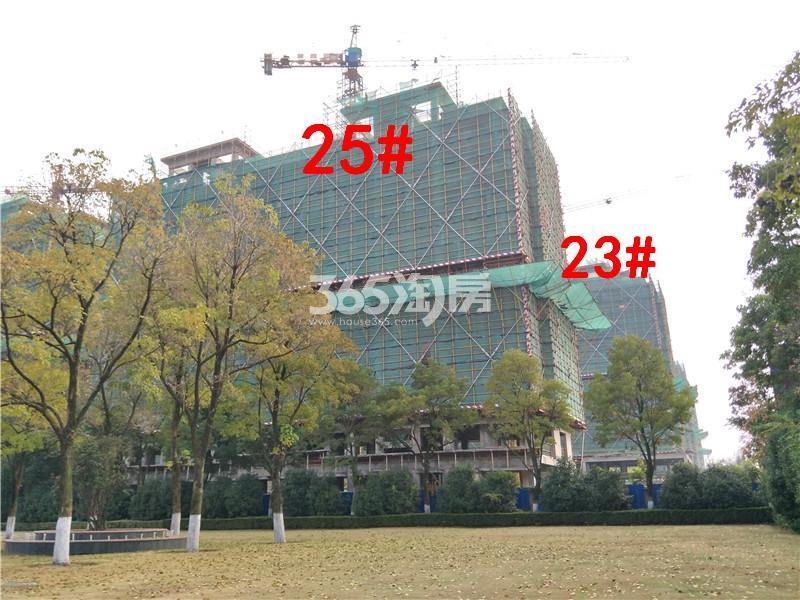 中梁首府23、25#楼在建实景图(11.20)