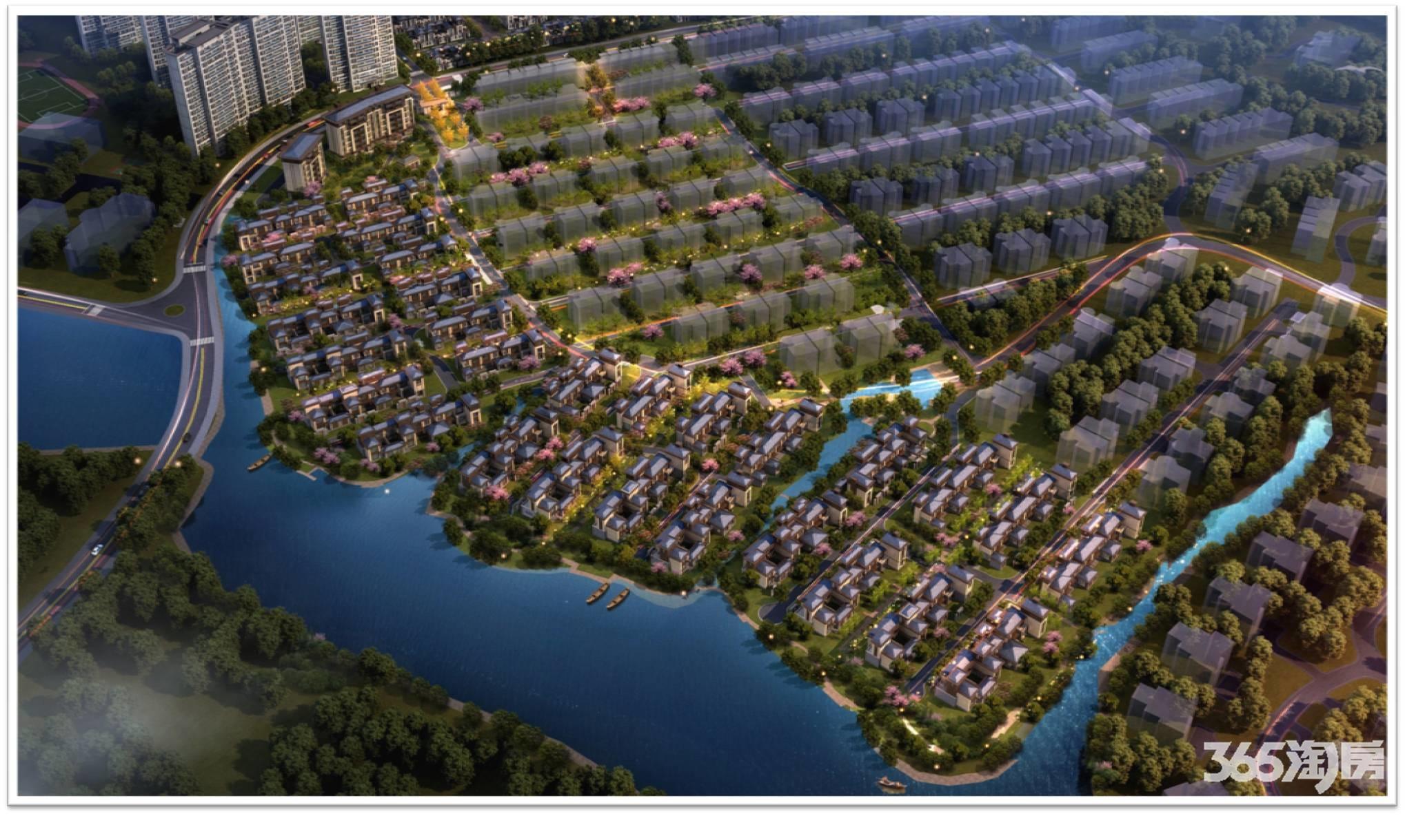 云南城投集团汀兰湖鸟瞰图
