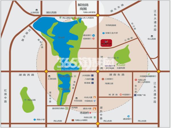 华海城市广场交通图