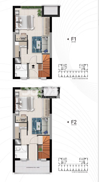 万科星荟twins loft公寓50㎡户型图