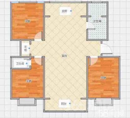 东方家园3室2厅1卫135平米精装产权房2010年建满五年